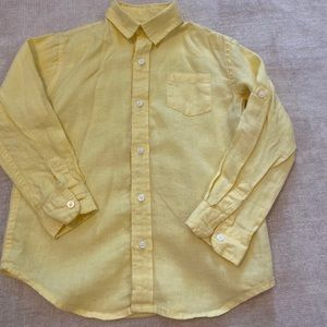 Janie and Jack Boys Linen Button Shirt - Size 5